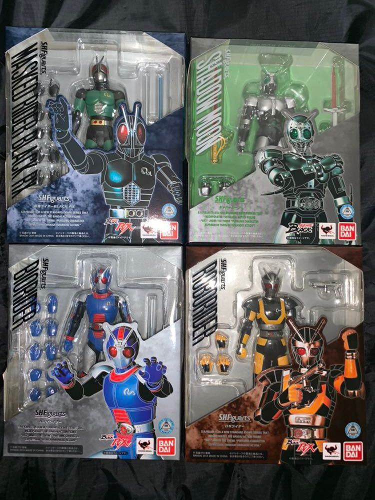 S H Figuarts Kamen Rider BLACK RX 4 point set shadow moon