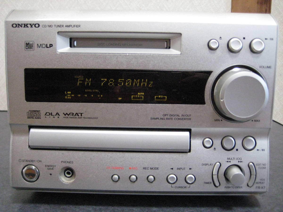 used ONKYO MD/ CD tuner amplifier FR-X7 pick up cleaning