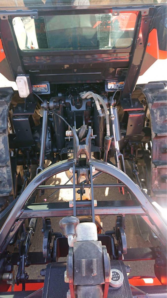 クボタ トラクター KL5150 846時間  キャビン パワステ 四駆 51馬力 パワクロ クローラ 琵琶湖発_画像10