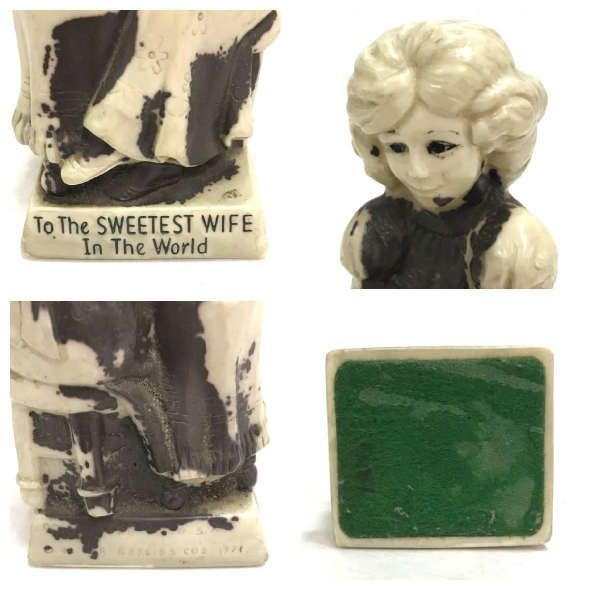 メッセージドール To The SERRTEST WIFE In The World インテリア 雑貨 小物 置物 ビンテージ アンティーク レトロ オールド DOLL D-1391_画像4