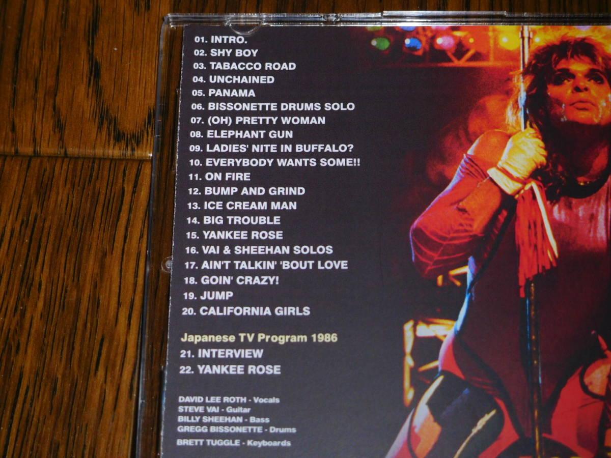 未開封新品 DAVID LEE ROTH / FRESNO 1986 COMPLETE + MONTREAL 1986 ZODIAC Steve Vai Billy Sheehan Gregg Bissonette_画像6