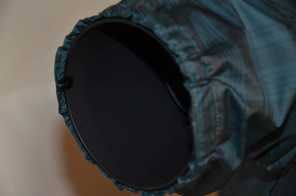 カメラ用レインカバー 長尺ズームレンズ用 グリーンチエック色   _画像4