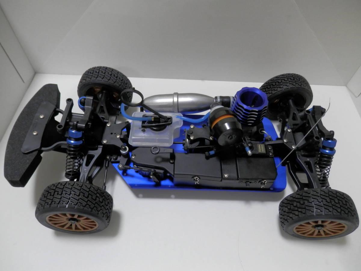 【現状渡し】京商 1/9エンジンラジコン DRX IMPREZA WRC 2008 GXR18エンジン Futabaプロポ付き