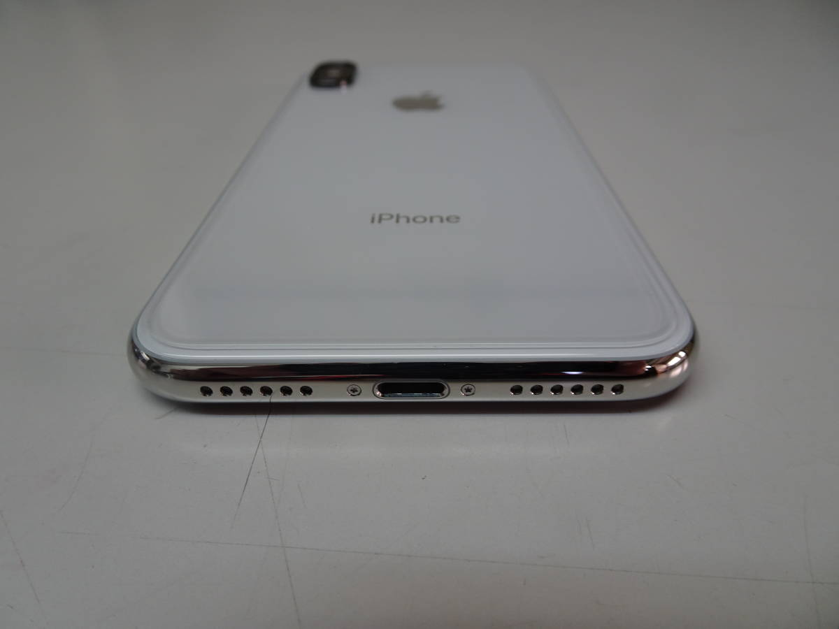 DoCoMo iPhoneX 256GB シルバー SIMロック解除済み_画像4