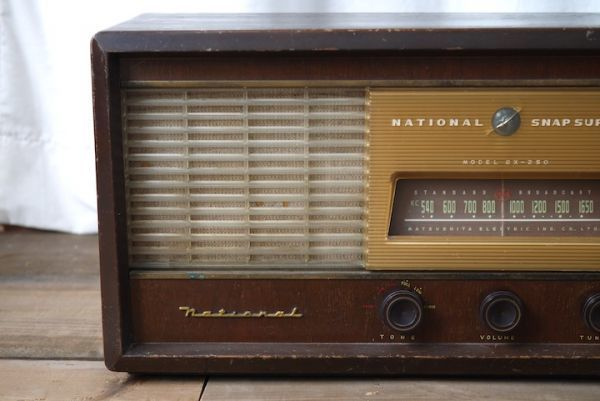 SD469020722 ナショナル真空管ラジオ ■ジャンク扱い/NATIONAL SNAP SUPER BX-250/動作未確認/スロデパ_画像2