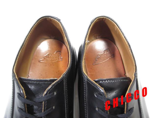 即決★REDWING メンズ 7.5D≒25.5cm ブラック★レッドウィング 101 黒 本革 レザー ポストマン オックスフォード シューズ 米国 USA製 革靴_画像9