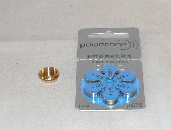 MR-9電池アダプター空気電池仕様 1.4V PR44電池6個 hp_画像1