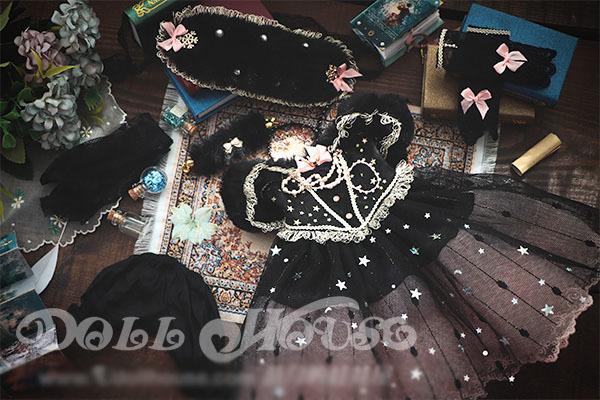 BJD用 球体関節衣装 6点セット MSD/MDD/DSDサイズ 双子 黒色 高品質 洋服doll ドール用 人形用 同梱可能 LYLー002_画像2