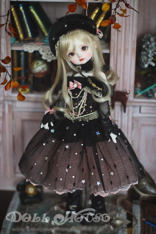 BJD用 球体関節衣装 6点セット MSD/MDD/DSDサイズ 双子 黒色 高品質 洋服doll ドール用 人形用 同梱可能 LYLー002_画像1