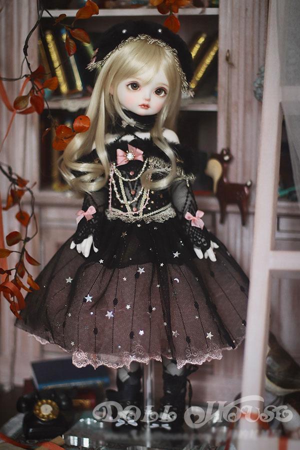 BJD用 球体関節衣装 6点セット MSD/MDD/DSDサイズ 双子 黒色 高品質 洋服doll ドール用 人形用 同梱可能 LYLー002_画像5