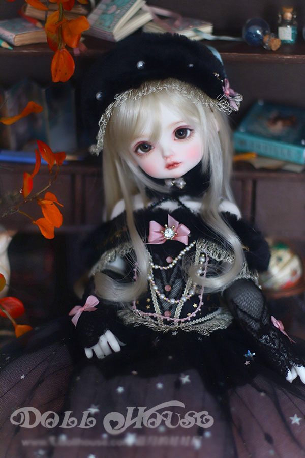 BJD用 球体関節衣装 6点セット MSD/MDD/DSDサイズ 双子 黒色 高品質 洋服doll ドール用 人形用 同梱可能 LYLー002_画像3
