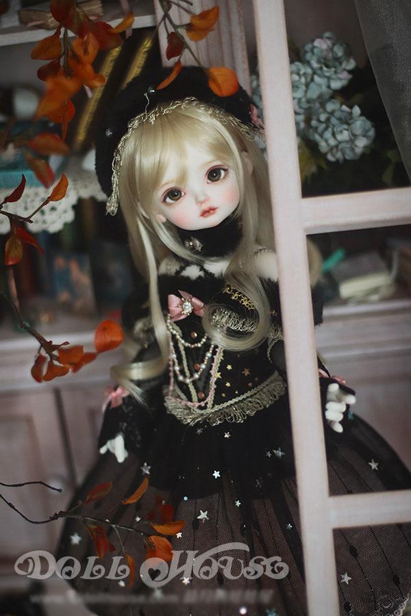 BJD用 球体関節衣装 6点セット MSD/MDD/DSDサイズ 双子 黒色 高品質 洋服doll ドール用 人形用 同梱可能 LYLー002_画像6