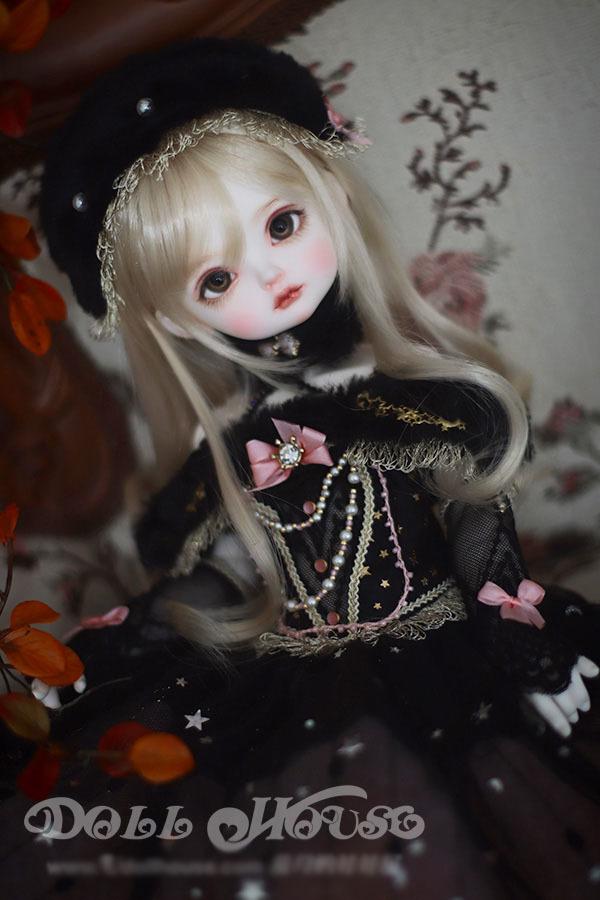 BJD用 球体関節衣装 6点セット MSD/MDD/DSDサイズ 双子 黒色 高品質 洋服doll ドール用 人形用 同梱可能 LYLー002_画像4