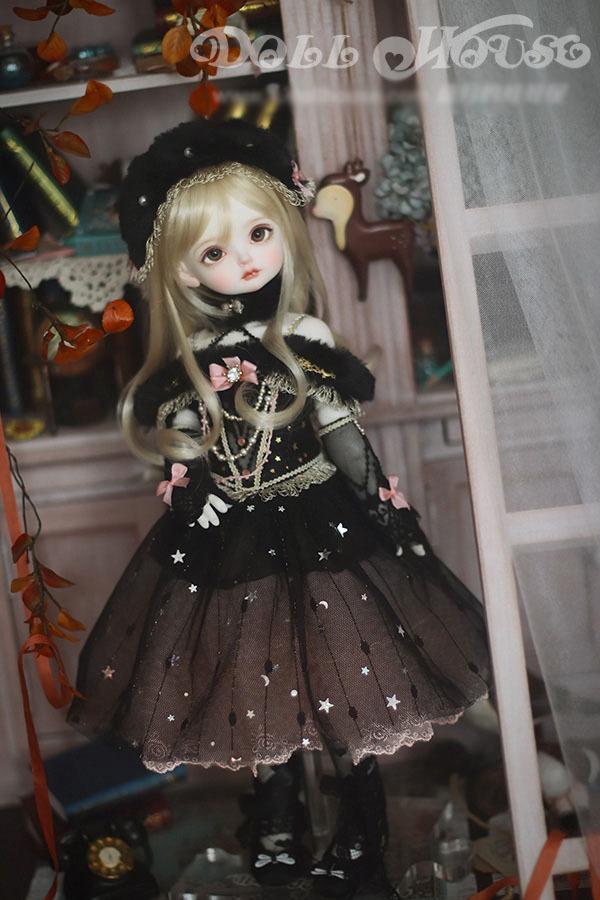 BJD用 球体関節衣装 6点セット MSD/MDD/DSDサイズ 双子 黒色 高品質 洋服doll ドール用 人形用 同梱可能 LYLー002_画像7