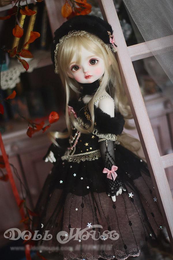 BJD用 球体関節衣装 6点セット MSD/MDD/DSDサイズ 双子 黒色 高品質 洋服doll ドール用 人形用 同梱可能 LYLー002_画像8