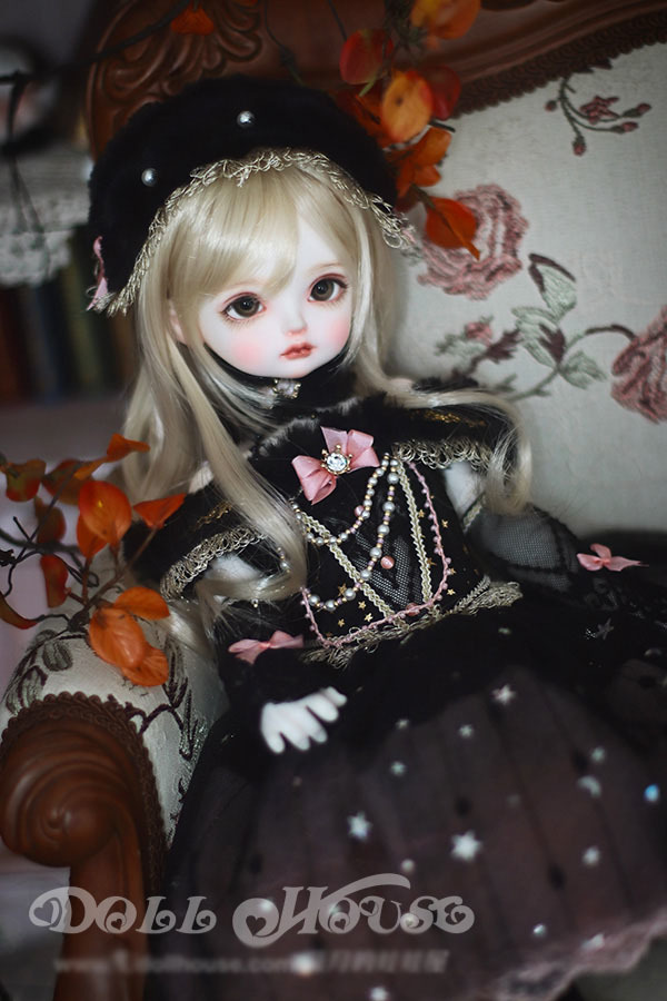 BJD用 球体関節衣装 6点セット MSD/MDD/DSDサイズ 双子 黒色 高品質 洋服doll ドール用 人形用 同梱可能 LYLー002_画像9
