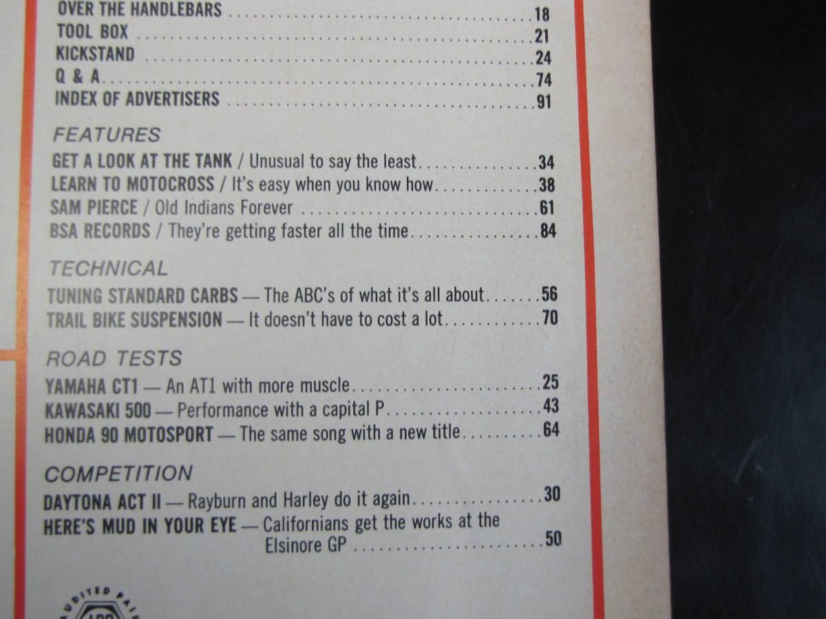 USA 洋書 1969年 7月号 Cycle guide YAMAHA 175 CT1 KAWASAKI 500 HONDA 90 ETC_画像2