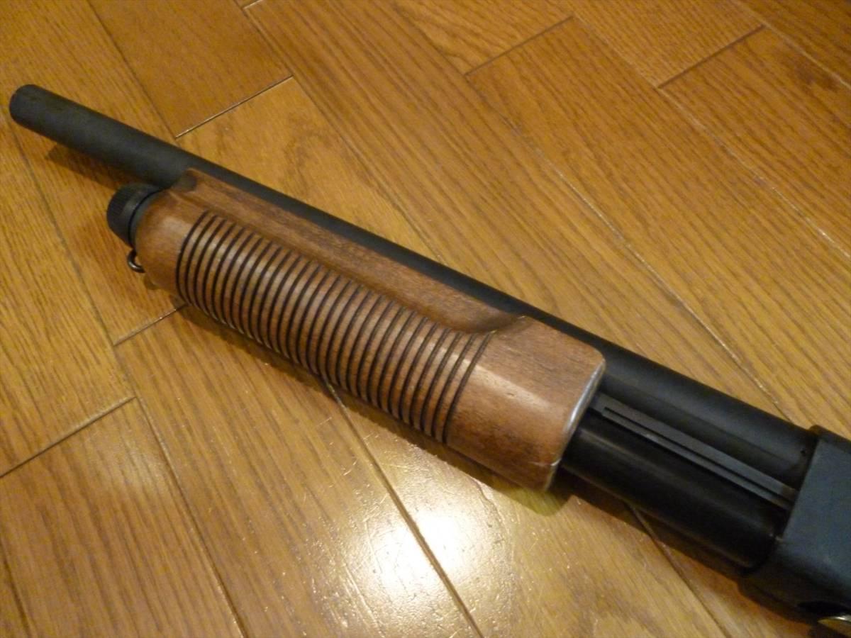 マルゼン レミントンM870 木製ストックバージョン ガスショットガン リアルカート式_画像3