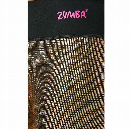 【正規品・新品】キラキラ Sサイズ★ZUMBA・ズンバ★LightUp The Dancefloor Metallic Capri Leggings_画像2