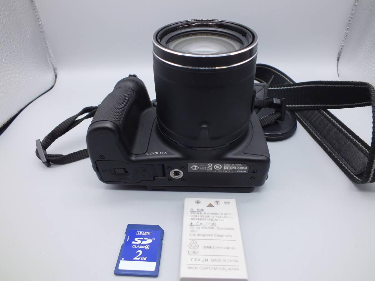 NIKON ニコン/デジタルカメラ/COOLPIX P520/クールピクス ブラック/完動品/コンパクト/バッテリー・2GB SDカード付属/C0210_画像8
