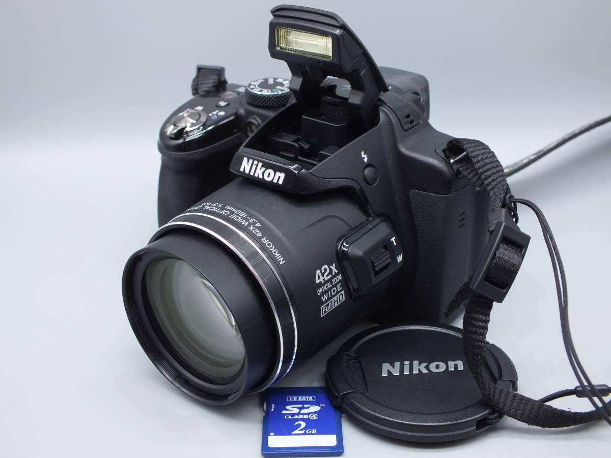 NIKON ニコン/デジタルカメラ/COOLPIX P520/クールピクス ブラック/完動品/コンパクト/バッテリー・2GB SDカード付属/C0210