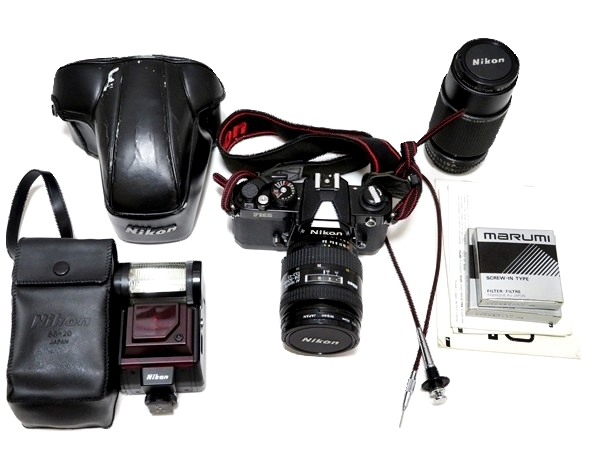 FI102【まとめセット】Nikon カメラ NEW FM2 レンズ AF NIKKOR 24-50mm 1:3.3-4.5 marumi フィルター 等【1000円スタート】