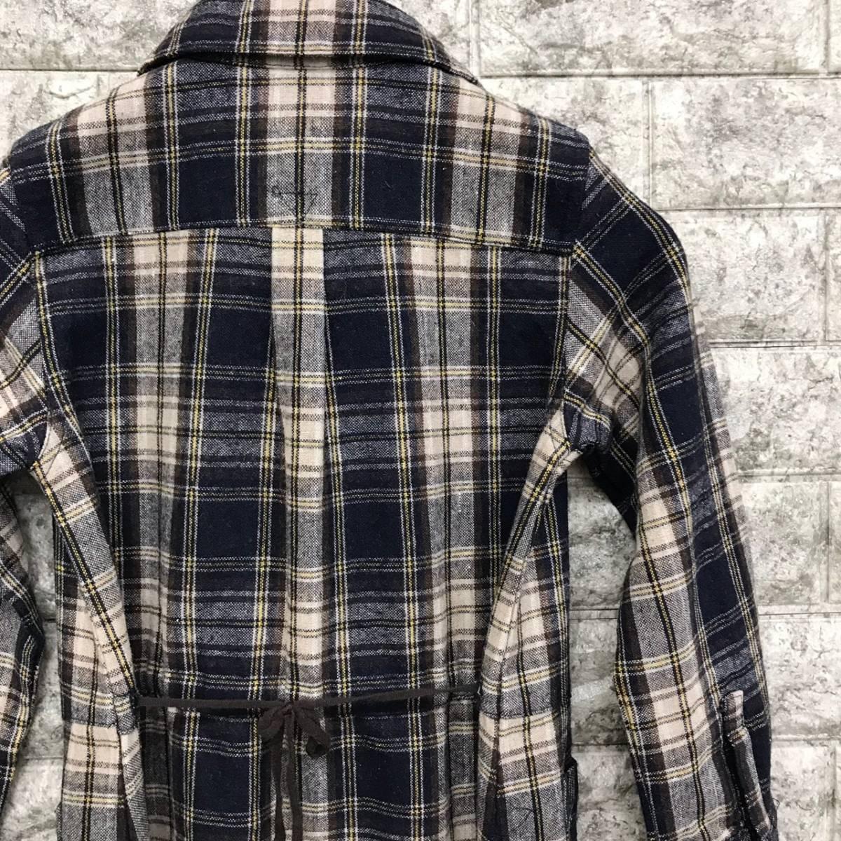 シップス SHIPS 長袖シャツ ワンピース チェック 130サイズ