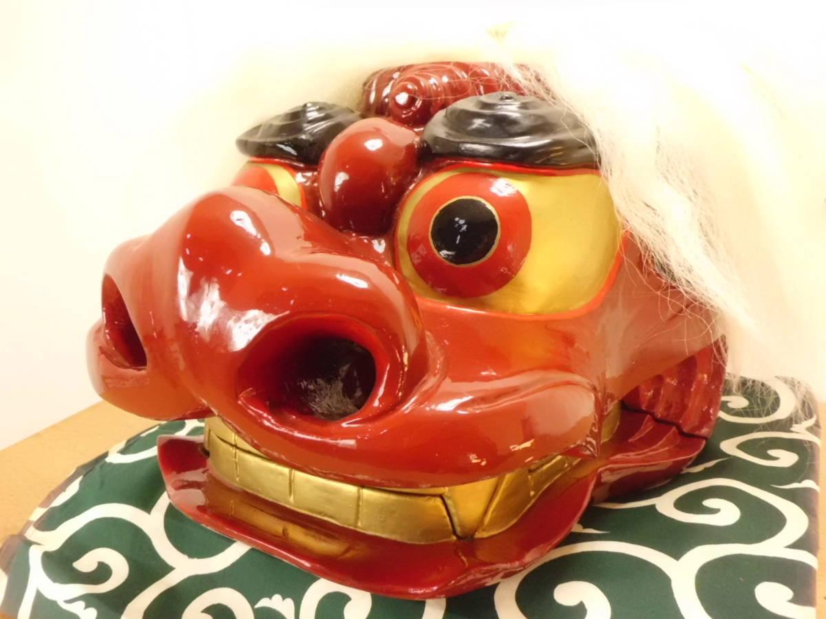 大きいキレイな獅子頭 獅子舞 彫り師 菊地_画像8