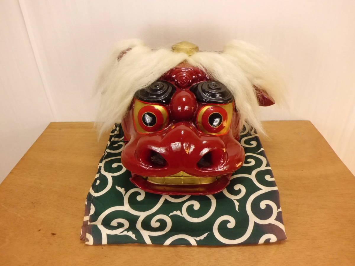 大きいキレイな獅子頭 獅子舞 彫り師 菊地_画像1