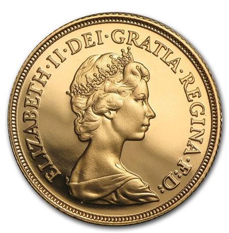 英国 1982年 エリザベス女王 ソブリン プルーフ金貨 PCGS PR68+ DEEP CAMEO 鑑定品 イギリス ヤングエリザベス 送料無料