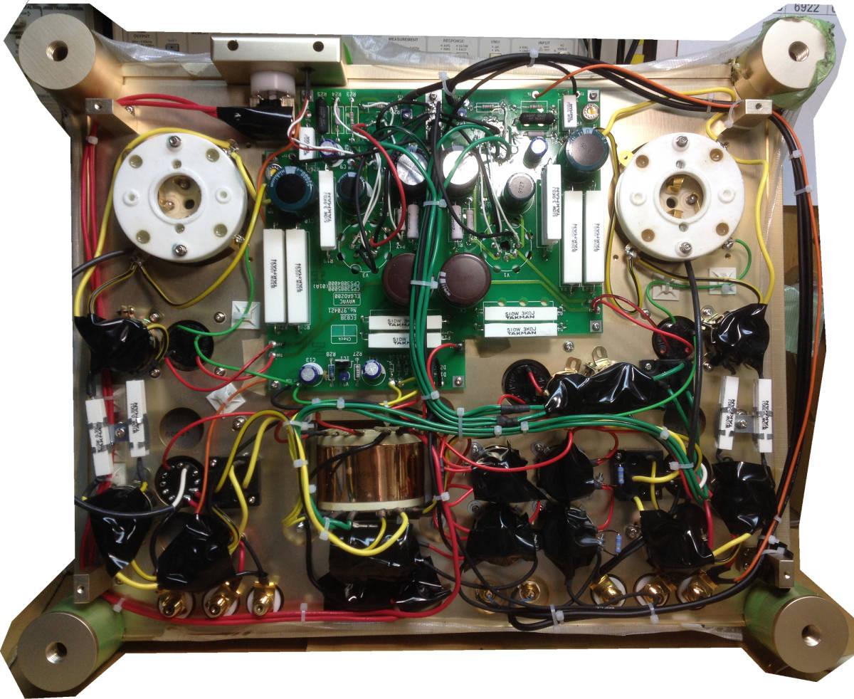 ♪シングルエンドステレオパワーアンプ EC-805 WAVAC試作モデル トランスはすべてTANGO特注品使用♪_製造過程の写真