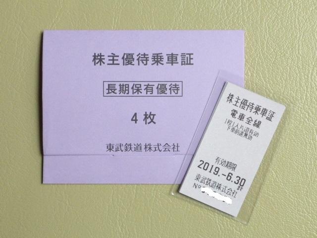 ★☆東武鉄道 株主優待乗車証 きっぷタイプ4枚 無料乗車券☆★