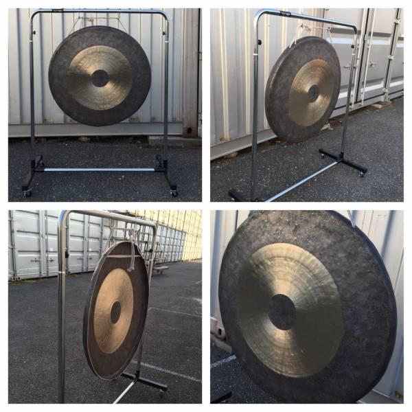 今月のサービス品送料無料 銅鑼90cm、スタンド、頑丈なソフトケース、バチ付き4点セット