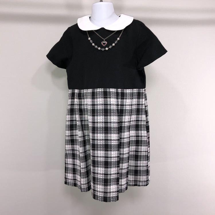 1e2076e306dd2 フォーマル 130㎝ セット 子供 入学式 卒園式 結婚式 スカート ワンピース 女の子 アンサンブル 黒 ブラック  バースデー