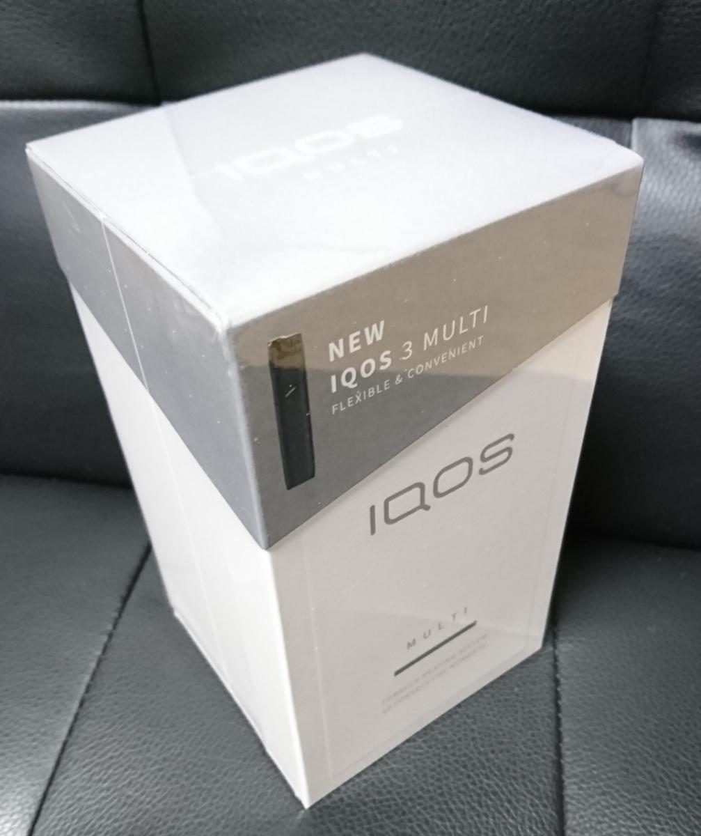 新品 アイコス 3 マルチ 未登録 未開封 IQOS 3 MULTI ベルベットグレー 正規品 新型 本体キット 電子タバコ 加熱式煙草_画像1