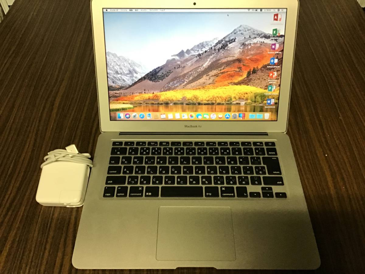Apple MacBook Air A1466 Core i5-5250U/13.3インチ/Windows 10 /4GB/超高速 PCI-e SSD 512GB/Early 2015/Office 2016【送料無料】
