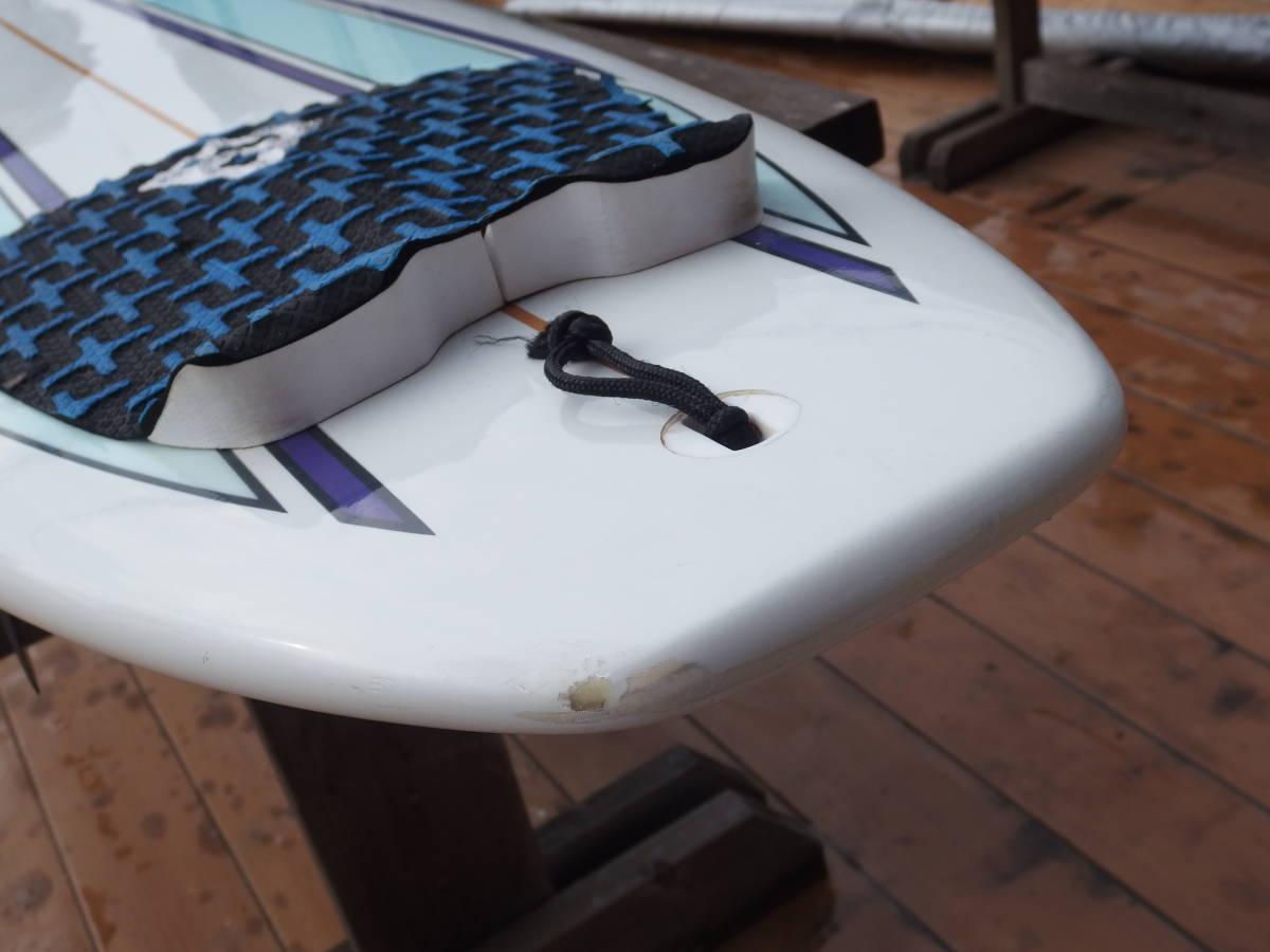 【手渡し希望】ワックスアップ無料 NSP サーフボード ロングボード 9.2 EPOXY(エポキシ) フィン・ケース付属 (横浜手渡し歓迎)_画像5