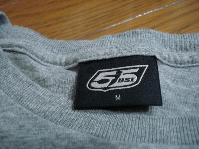 送料無料☆55DSL長袖Tシャツ/ロゴ/メンズ/M/グレー/ディーゼル/diesel/インナー_画像2