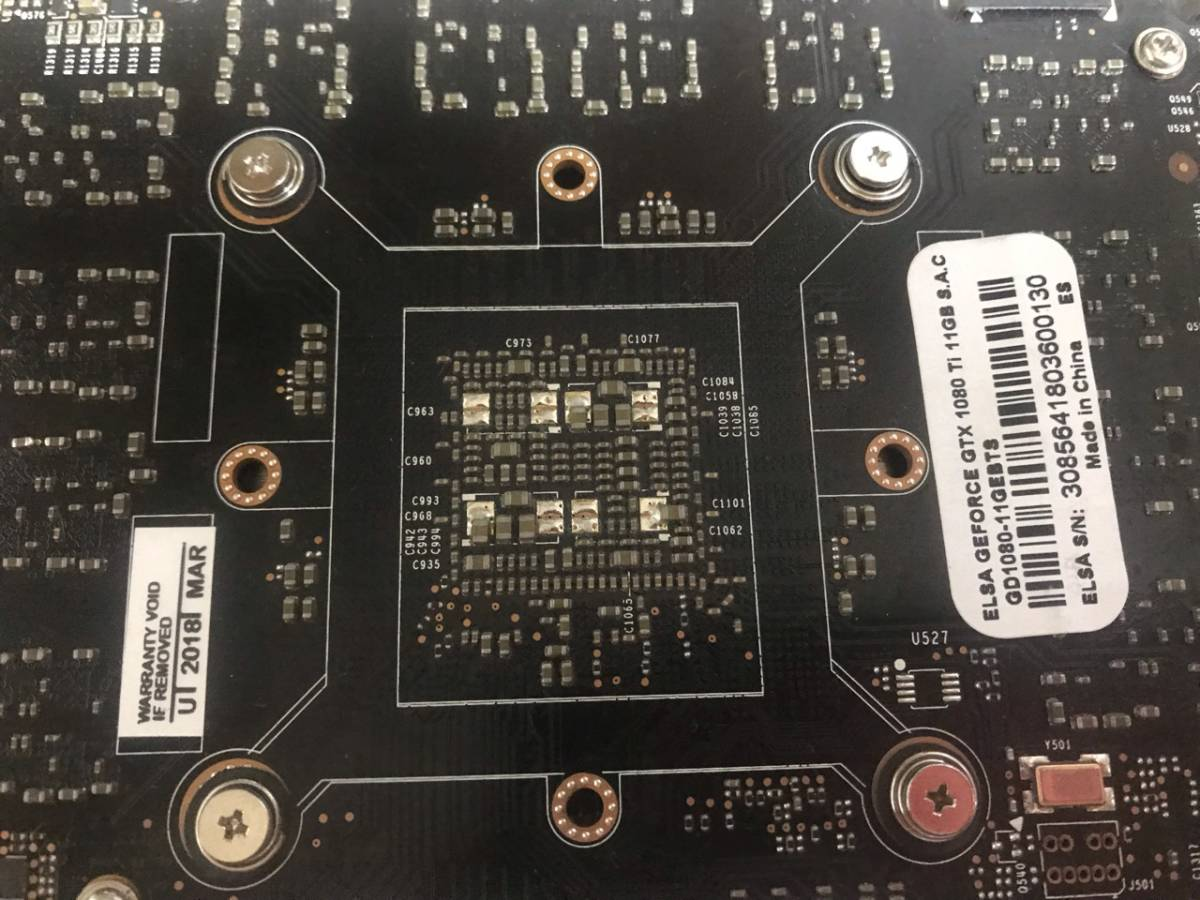 <送料無料><中古>ELSA GeForce GTX 1080TI 11GB 箱無し(管理番号D4)