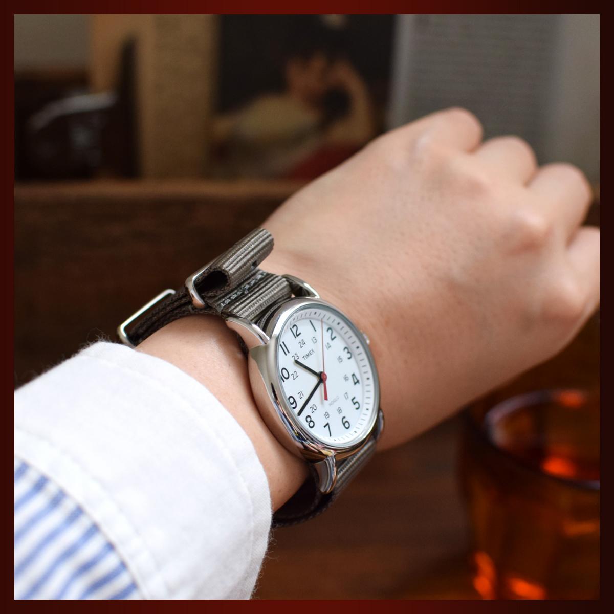 時計ベルト NATO ゴールドバックル ショートサイズ カーキブラウン 20mm 取付けマニュアル _画像9