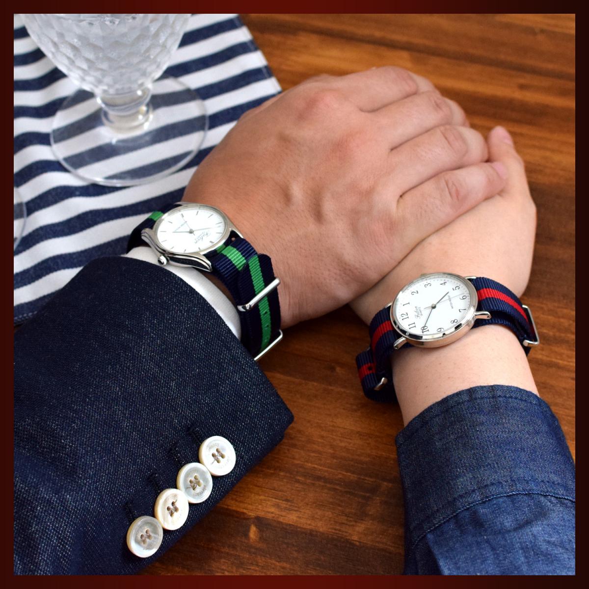 時計ベルト NATO ゴールドバックル ショートサイズ 18mm 3本セット 取付けマニュアル 腕時計バンドセット売り_画像7