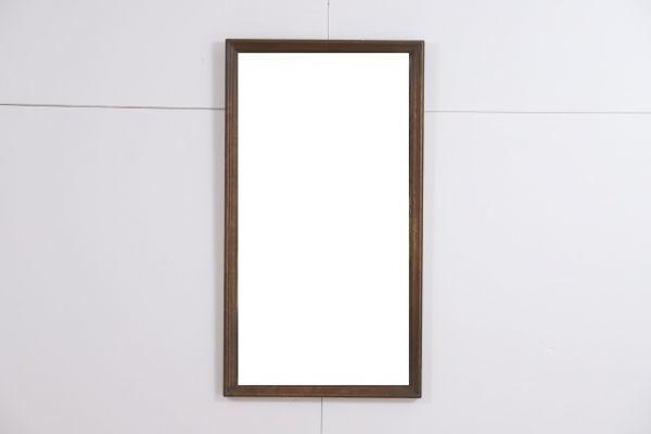 神戸家具 永田良介商店 壁掛け ミラー 鏡 無垢 オーク材 アンティーク 壁掛け スタンドミラー 姿見_画像3