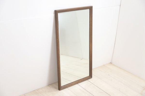 神戸家具 永田良介商店 壁掛け ミラー 鏡 無垢 オーク材 アンティーク 壁掛け スタンドミラー 姿見_画像2