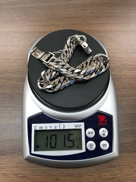 【6865】 プラチナ 100g 20cm 喜平 ブレスレット Pt850 造幣局検定ホールマーク有_画像6