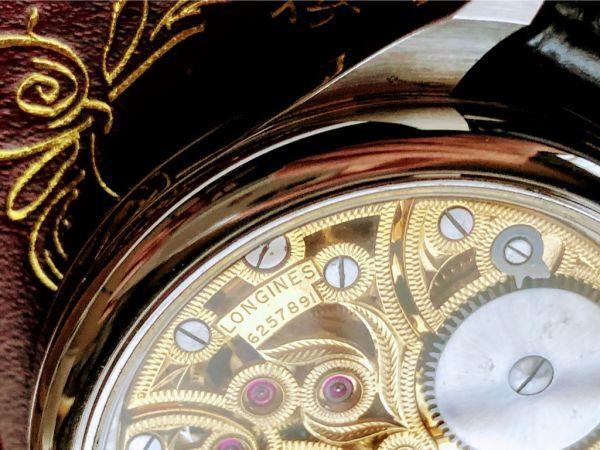 【値下げセール】ロンジン★LONGINES/高級ブランド/1940年/OH済/中古/アンティーク/動作良好/メンズ/スケルトン/手巻き腕時計/送料無料