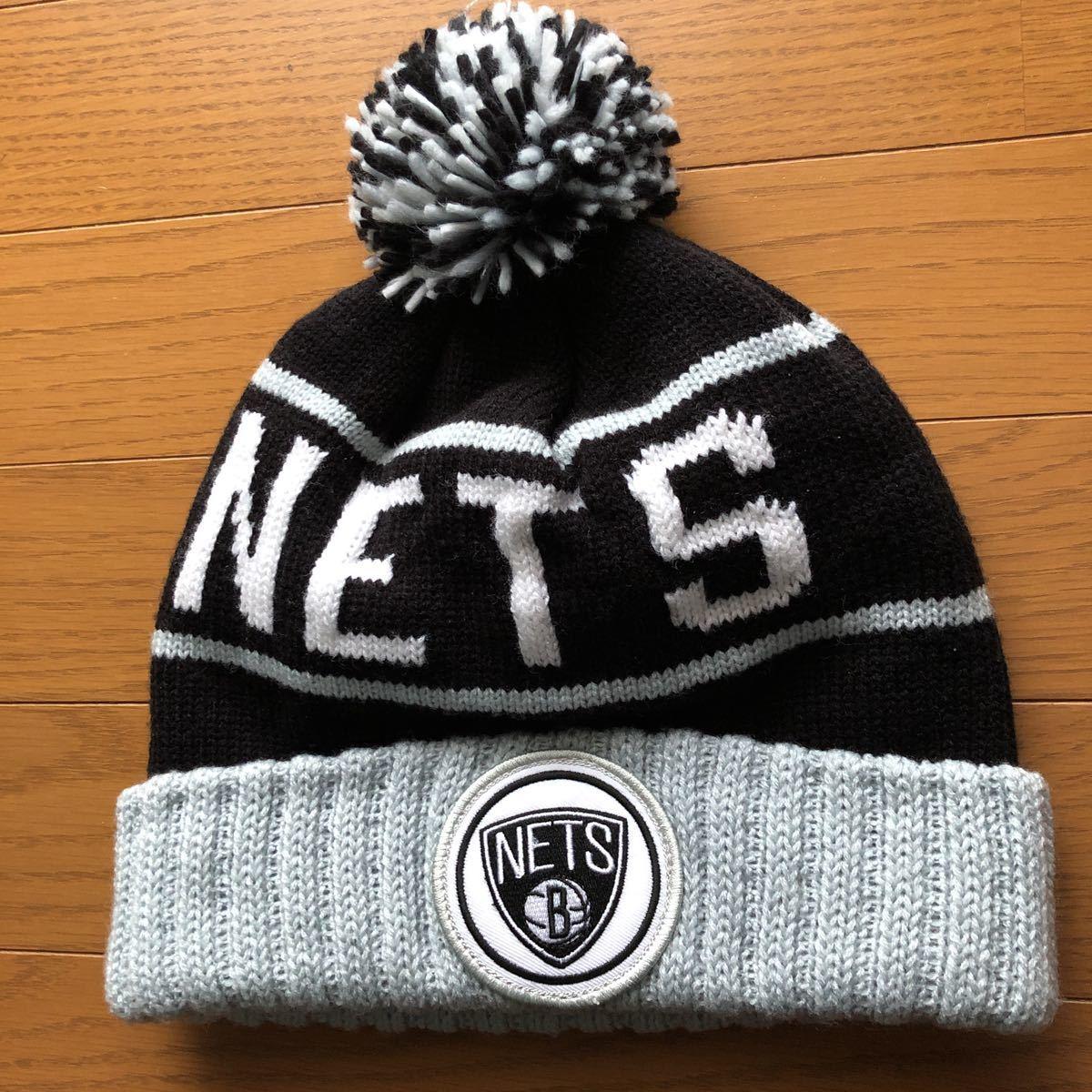 未使用 Mitchell&Ness NBA ミッチェル&ネス ネッツ brooklyn nets ニット帽 帽子