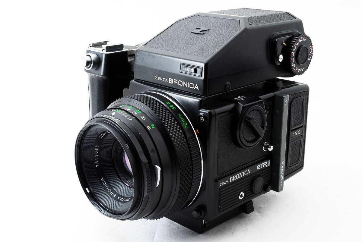 ★ZENZA BRONICA ETR-Si ZENZANON MC 75mm F2.8 AE-II グリップ ブロニカ #679_画像1