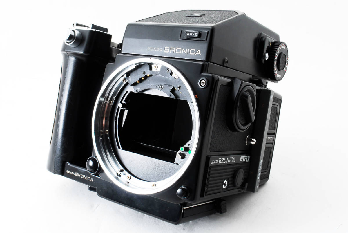 ★ZENZA BRONICA ETR-Si ZENZANON MC 75mm F2.8 AE-II グリップ ブロニカ #679_画像4