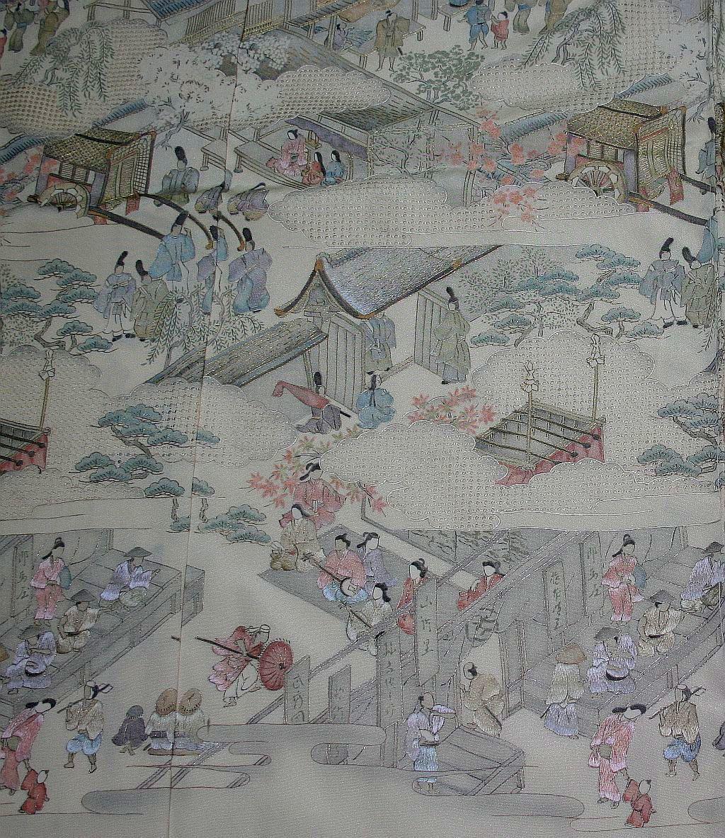 ◆一品物◆弊社工房オリジナル◆汕頭と手刺繍◆お誂えお仕立て付 振袖NO.10_画像4