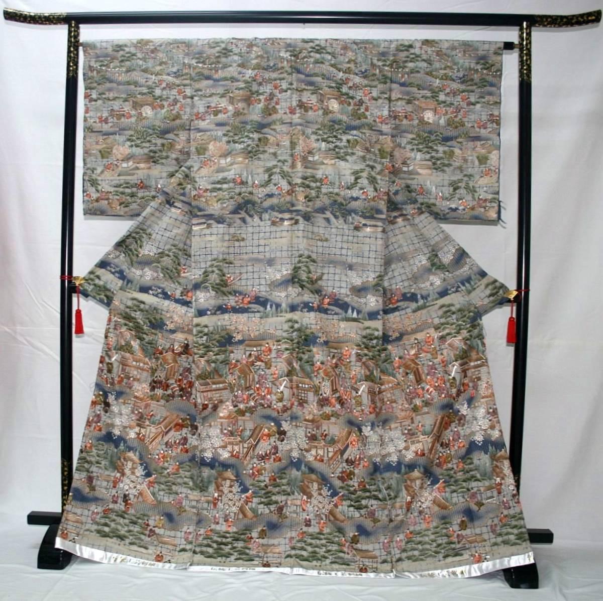 ◆高級手縫い仕立付◆ 横塚先生◆総汕頭手刺繍◆特別訪問着NO.15_画像1